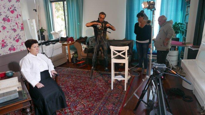 Tournage d'un documentaire sur Madeleine Pelletier